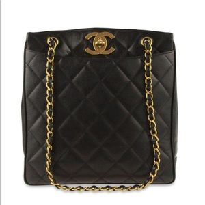 Authentic Chanel Shopper Leather Tote